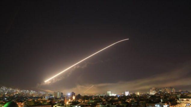 حمله موشکی به سوریه