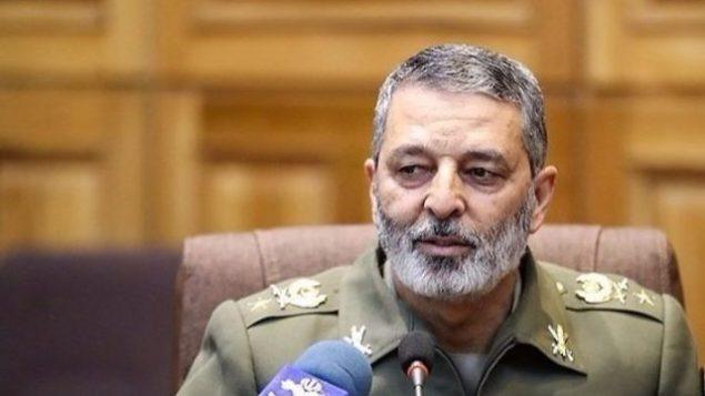 توضیح تصویر: سرتیپ عبدالرحیم موسوی، فرمانده ارتش ایران. (Screen capture)