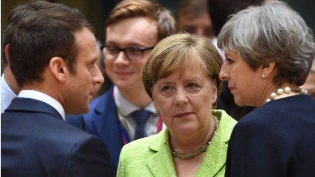 رهبران بریتانیا آلمان و فرانسه