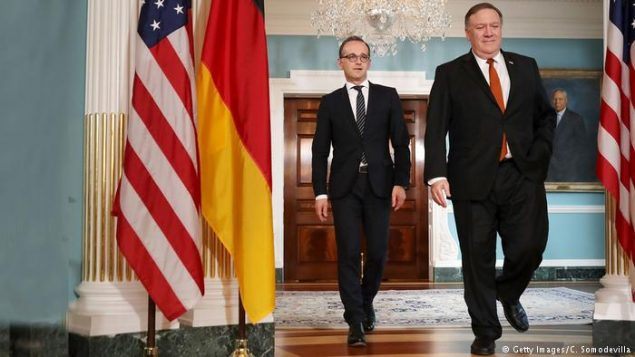 وزرای خارجه آلمان و آمریکا