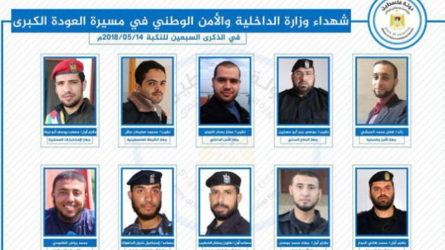 برخی اعضای حماس که در جریان درگیری های اخیر کشته شدند