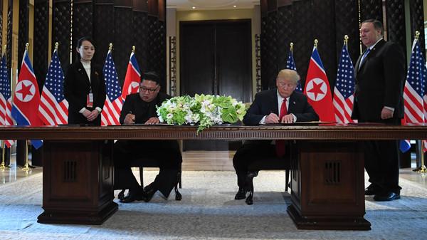 رهبران کره شمالی و امریکا