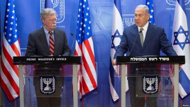 مشاور امنیت ملی کاخ سفید و نخست وزیر اسرائیل