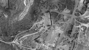 تصویر: عکسی از کاخ ریاست جمهوری سوریه در دمشق که ماهواره جاسوسی اوفک ۱۱ اسرائیل گرفته، و در ۱۷ سپتامبر ۲۰۱۸ از سوی وزارت دفاع منتشر شد. (Defense Ministry)