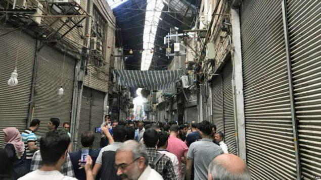 بازار اعتصابی تهران