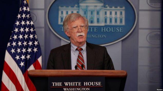 جان بولتون، مشاور امنیت ملی رئیس جمهوری آمریکا
