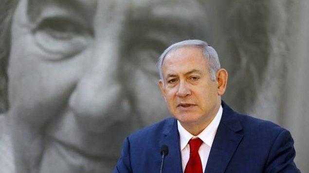 تصویر: بنیامین نتانیاهو نخست وزیر در جلسه هفتگی کابینه در اورشلیم، ۱۸ نوامبر ۲۰۱۸.  (Abir Sultan/Pool/AFP)
