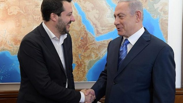 نخست وزیر اسرائیل در دیدار معاون نخست وزیر ایتالیا