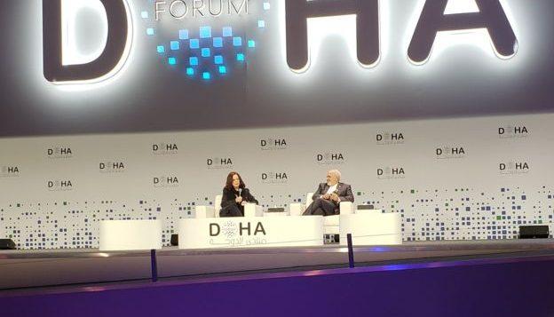 وزیر خارجه ایران در نشست بینالمللی دوحه در پایتخت قطر صحبت کرده است - بی بی سی