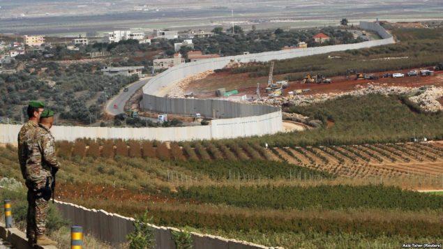 خط مرزی اسرائیل با لبنان