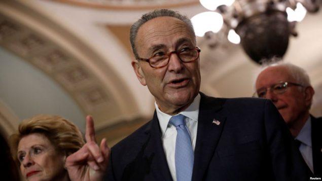 «چاک شومر» رهبر اقلیت دموکرات در مجلس سنای آمریکا