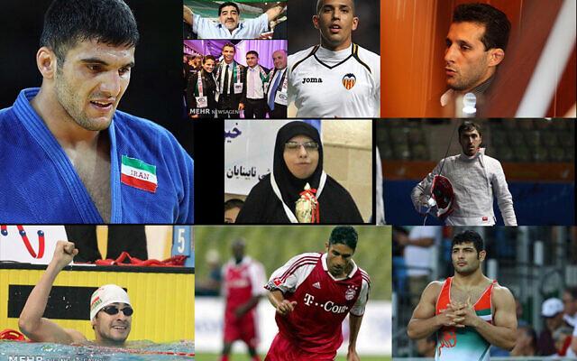 تصاویری از ورزشکاران ایرانیِ محروم از رقابت با ورزشکاران اسرائیلی