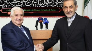 ولید المعلم وزیر امور خارجه سوریه در دیدار با علیاکبر ولایتی