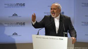 محمدجواد ظریف، وزیر امور خارجه جمهوری اسلامی در کنفرانس امنیتی مونیخ
