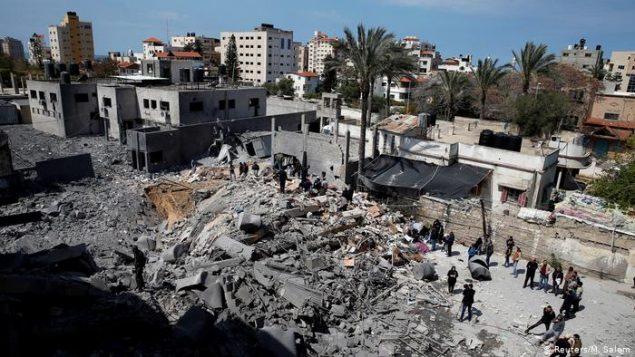 مواضع حماس در غزه مورد حمله اسرائیل قرار گرفته