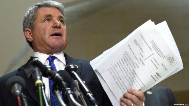 مایکل مککال، نماینده جمهوریخواه ایالت تگزاس و عضو کمیته خارجی مجلس نمایندگان آمریکا