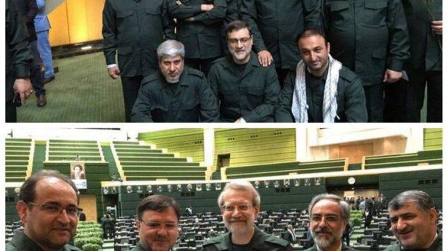 لباس سپاه بر تن نمایندگان مجلس