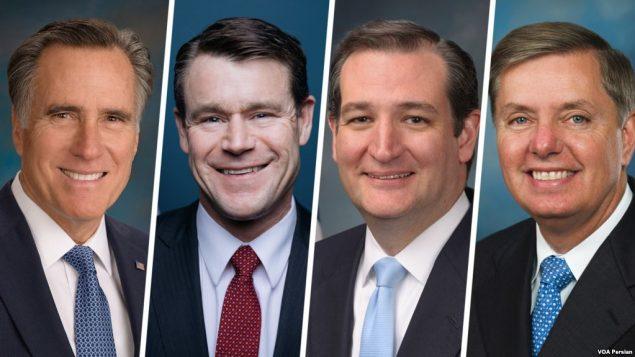 از راست سناتورها گراهام، کروز، یانگ و رامنی