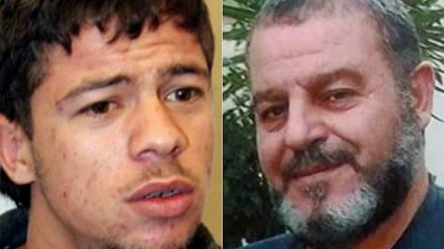 حامیس احمد، چپ، و زیدان طویل قاچاقی مواد مخدر، دو سوری که از سوی اسرائیل آزاد شدند. (Courtesy)