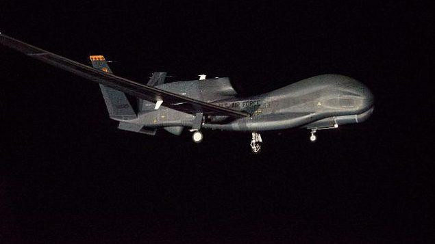 هواپیمای بدون سرنشین «گلوبال هاوکِ نورتروپ گرونمن». (GLOBE NEWSWIRE via AP)