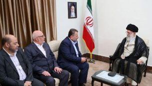 خامنه ای در دیدار اعضای حماس