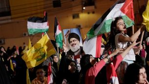 تصویر: حامیان حزب الله حین تظاهرات در سالگرد روز ضداسرائیلی قدس در بیروت، لبنان، ۳۱ مه ۲۰۱۹.  (AP Photo/Hassan Ammar)