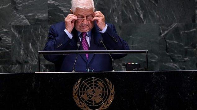تصویر: «ولید معلم»، وزیر خارجه سوریه حین سخنرانی در هفتادوچهارمین مجمع عمومی سازمان ملل، ۲۸ سپتامبر، نیویورک. (Johannes EISELE / AFP)