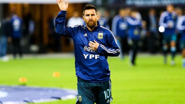 تصویر: لیونل مسی آرژانتین در استادیوم بلومزفیلد در تل آویو، ۱۸ نوامبر ۲۰۱۹.  (Flash90)