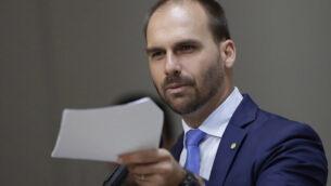تصویر: ادواردو بولسانارو، قانونگزار برزیلی در کمیته امور سیاسی دفتر نمایندگان، برزیلیا، برزیل، ۱۴ اوت ۲۰۱۹.  (AP Photo/Eraldo Peres)