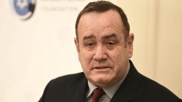 تصویر: آلیحاندرو جئامتی، رئیس جمهوری منتخب گواتمالا در اورشلیم، ۹ دسامبر ۲۰۱۹. (Avi Hayun)