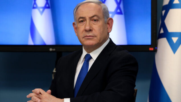 Israeli prime minister Benjamin Netanyahu at a press conference about the coronavirus COVID-19, at the Prime Ministers office in Jerusalem on March 11, 2020. Photo by Flash90 *** Local Caption *** ביבי ראש הממשלה בנימין נתניהו יעקב ליצמן שר הבריאות קורונה וירוס מגפה משרד הבריאות