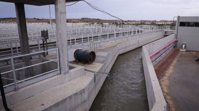 View of the Dan Region Wastewater Treatment Plant (SHAFDAN) in Rishon Letzion, on November 22, 2018. Photo by Isaac Harari/Flash90 *** Local Caption *** מכון התפלה שפדן תשתיות איכות הסביבה מים