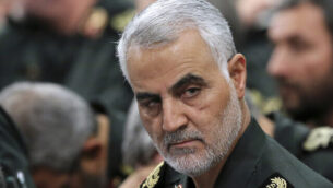 FILE- In this Sept. 18, 2016 photo released by an official website of the office of the Iranian supreme leader, Revolutionary Guard Gen. Qassem Soleimani, center, attends a meeting with Supreme Leader Ayatollah Ali Khamenei and Revolutionary Guard commanders in Tehran, Iran. A U.S. airstrike near Baghdad's airport on Friday Jan. 3, 2020 killed Gen. Qassem Soleimani, the head of Iran's elite Quds Force. Soleimani was considered the architect of Iran's policy in Syria. (Office of the Iranian Supreme Leader via AP, File)