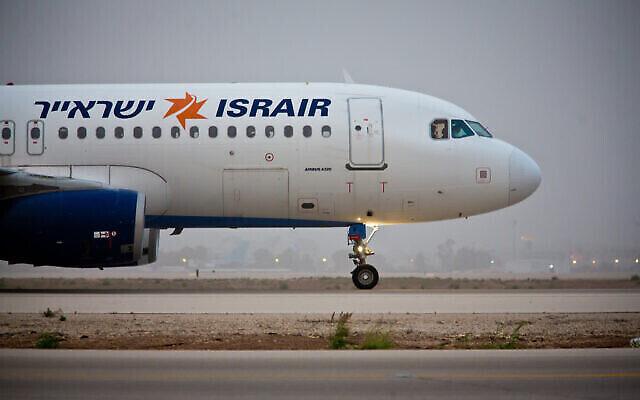 تصویر: یک پرواز ایسراایر حین پرواز از فرودگاه بین المللی بن گوریون، ۲۴ مارس ۲۰۱۸. (Shai/FLASH90`0