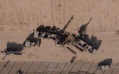 تصویر: در عکسی از نیروهای دفاعی اسرائیل که در تاریخ ۲۰ اکتبر ۲۰۲۰ ارائه شد، تجهیزات مهندسی نظامی در امتداد مرز اسرائیل با جنوب نوار، در پی کشف تونلی که به داخل قلمرو اسرائیل کشیده شده، مشاهده میشود.  (Israel Defense Forces)