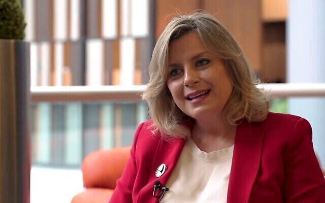 تصویر: کلودیا عون، دختر میشل عون رئیس جمهوری لبنان. (Screen capture: YouTube)