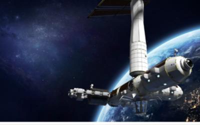 عکس تزئینی از سفینه فضایی که دومین فضانورد اسرائیل را به فضا خواهد برد. (Axiom Space)