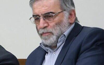 محسن فخری زاده  (Fars News Agency via AP)