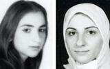 تصویر: ژاکلین ساپر در شش سالگی در سال ۱۹۷۷، پیش از انقلاب ۱۹۷۹ ایران، چپ، و در ۲۳ سالگی در ۱۹۸۲، راست.