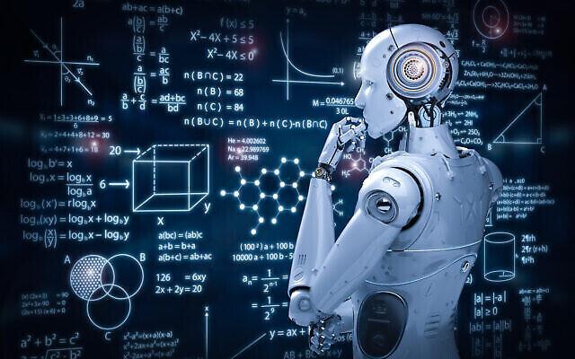 تصویر تزئینی: یک ربات در حال مرور محاسبات ریاضی. (PhonlamaiPhoto via iStock by Getty Images)