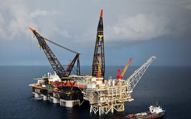 تصویر: سکوی گاز طبیعی دریایی تمار. (Delek Drilling)