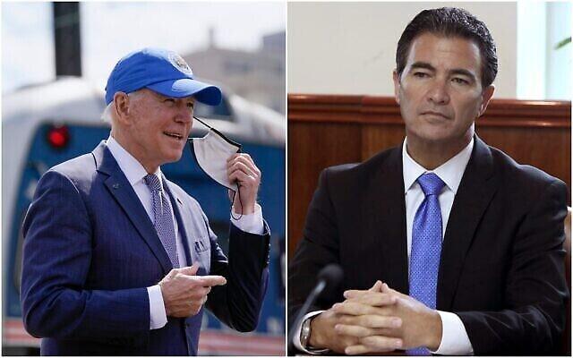 تصویر: «جو بایدن» رئیس جمهور ایالات متحده، چپ، و «یوسی کوهن» رئیس موساد. (Collage/AP)