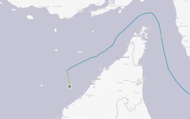 تصویر: در عکس کشتی CSAV تیندال که سابقاً متعلق به اسرائیل بوده مشاهده می شود که در مسیر بندر پیراس شناور است، ۱۵ ژانویه ۲۰۲۱. (Screenshot: YouTube)
