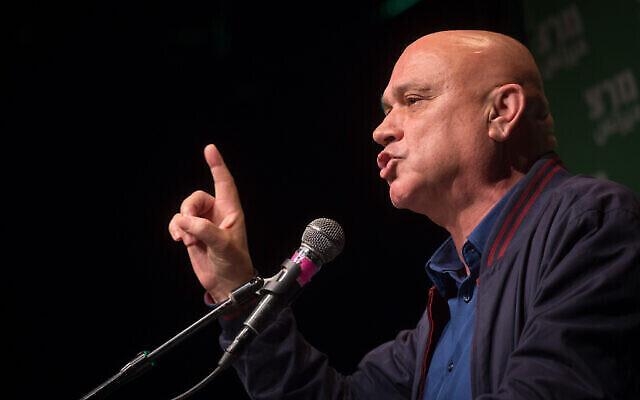 تصویر: «ایساوی فراج» نماینده کنست از «حزب مرتز» در کنفرانس حزب در تل آویو، ۱۴ ژانویه ۲۰۲۰.  (Miriam Alster/Flash90)