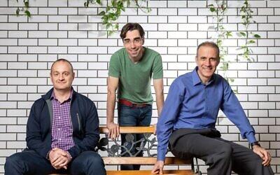 تصویر: بنیانگزاران گاردیکور از راست به چپ: درور سالئی، پاول گارویچ، و آریل زیتلین.  (Courtesy)