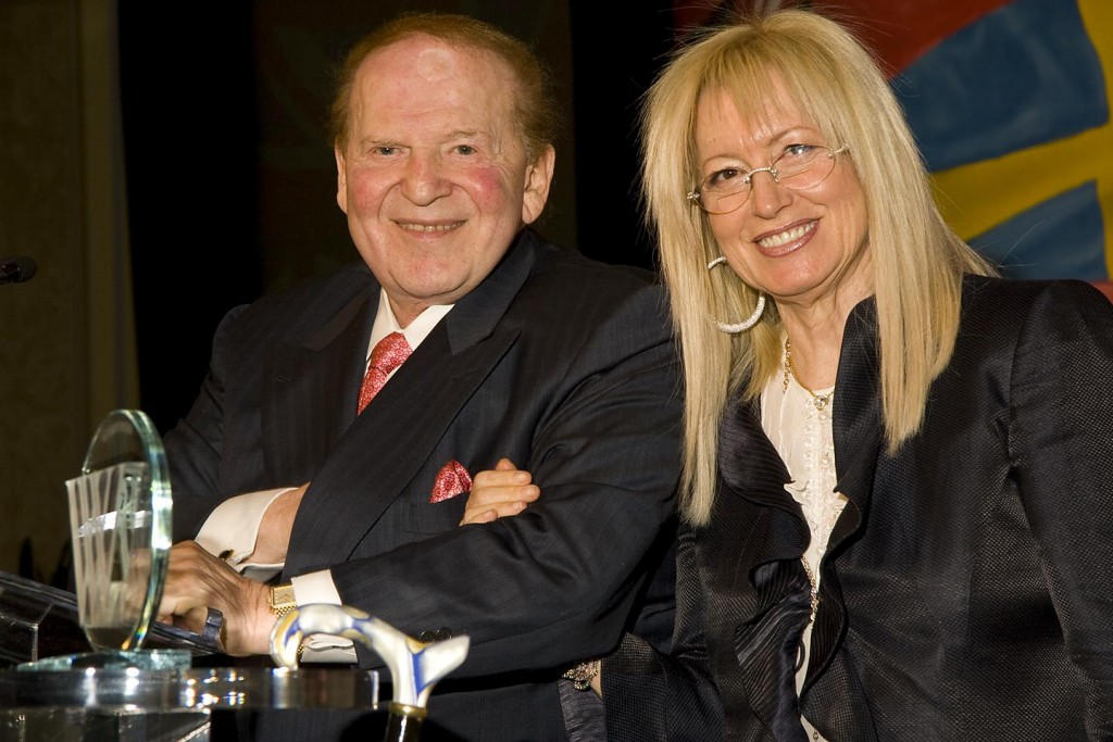 Sheldon and Miriam Adelson (Photo: Union 20)