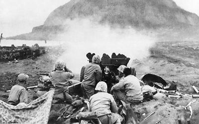 La Bataille de Iwo Jima (Crédit photo : United States Marine Corps, ibiblio.com, Wikimedia Commons)