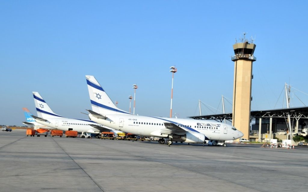 Des avions El Al à l'aéroport Ben Gourion (Crédit: Shay Levi/Flash90)