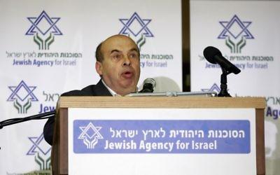 Le directeur de l'Agence juive, Natan Sharansky (Crédit : Abir Sultan/Flash90)