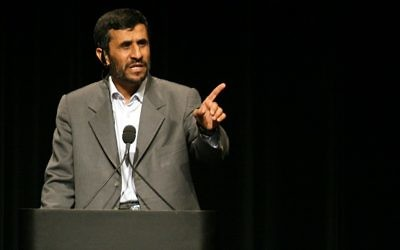 Iranian President Mahmoud Ahmadinejad (photo credit: CC-BY-Daniella Zalcman, Wikimedia Commons)